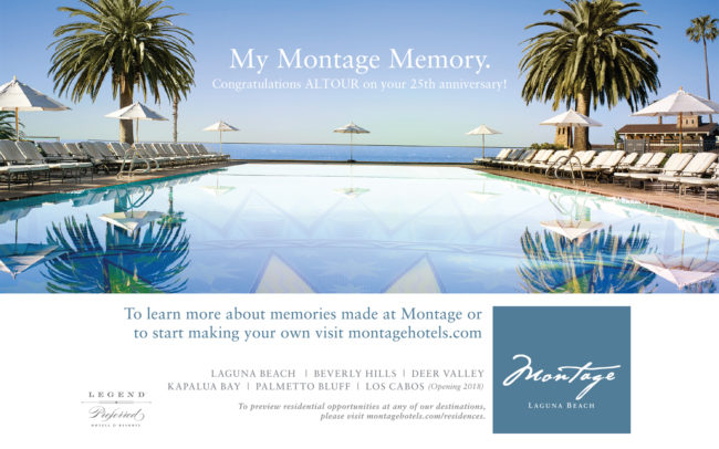 My Montage Memories print ad creative for the Montage Hotel Resort in Laguna Beach, Ca.