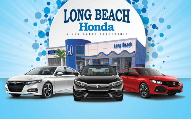 Grand Opening signage for Long Beach Honda Dealership