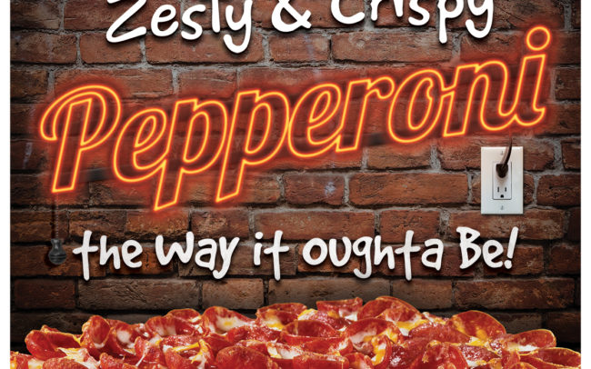 Mountain Mike's Pizza in-store POP Creative for their zesty, crispy Pepperoni