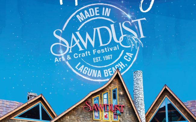 Where Art is Always Happening Print Magazine creative for the Sawdust Art Festival in Laguna Beach, Ca.