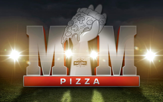 Mountain Mike's Pizza social media content around the NFL Superbowl weekend.